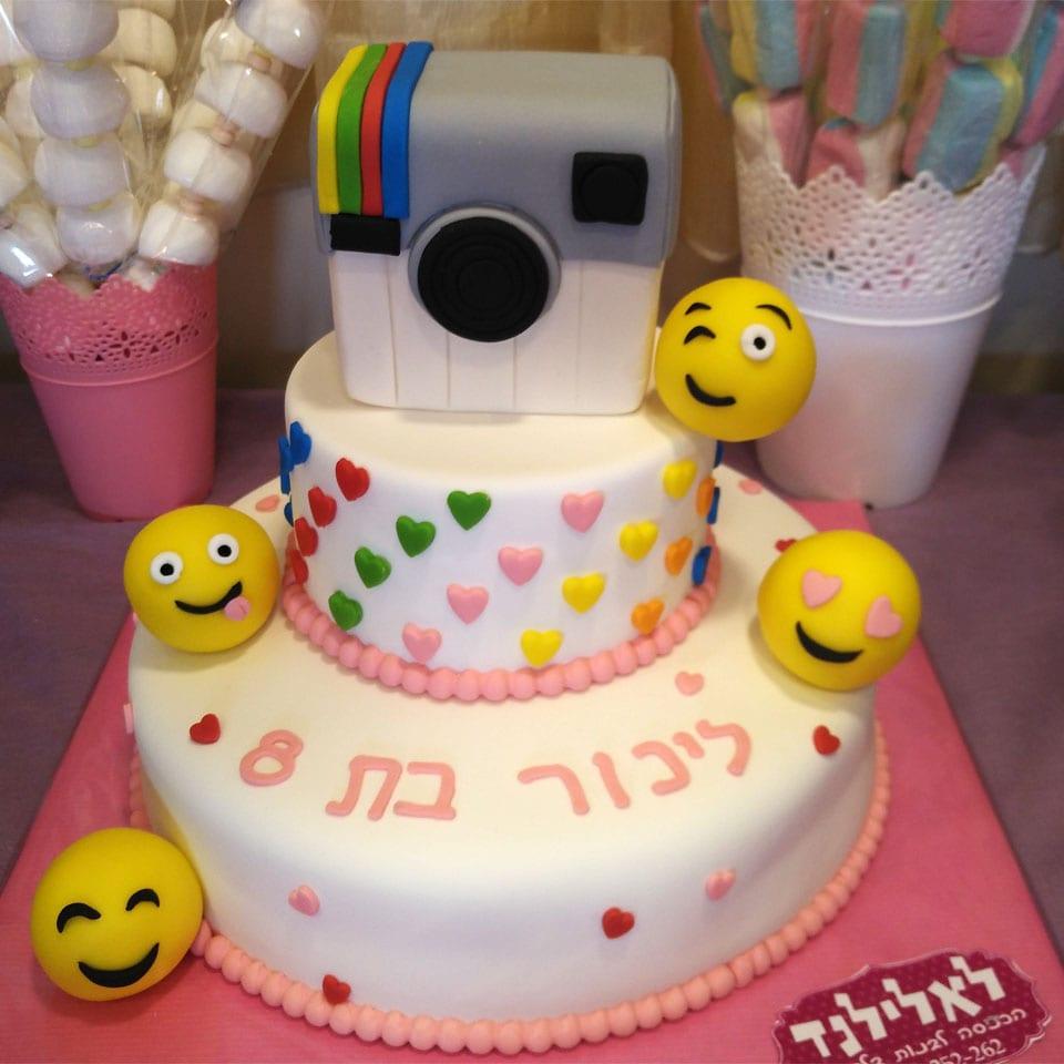 עוגת יום הולדת אינסטוש