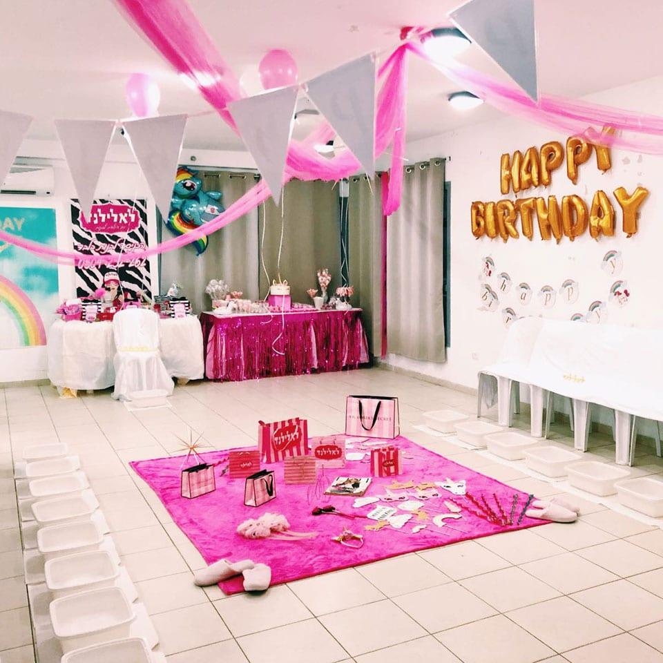 יום הולדת ספא חד קרן - תפאורה