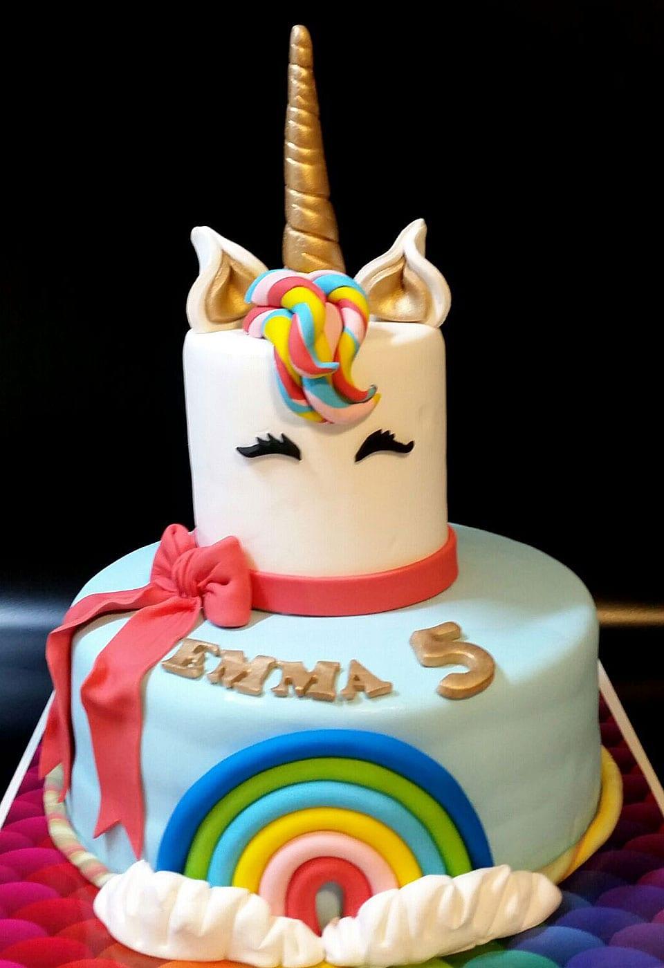 עוגת יום הולדת חד קרן אמה