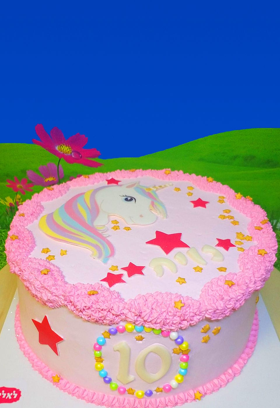 עוגת יום הולדת נויה חד קרן