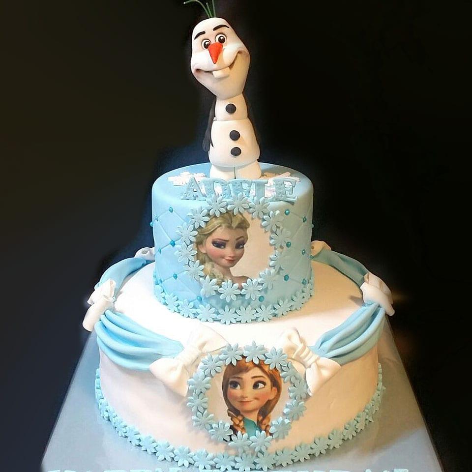 יום הולדת פרוזן לשבור את הקרח לאלילנד טקס עוגה