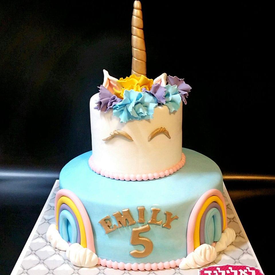 יום הולדת חד קרן לאלילנד טקס עוגה