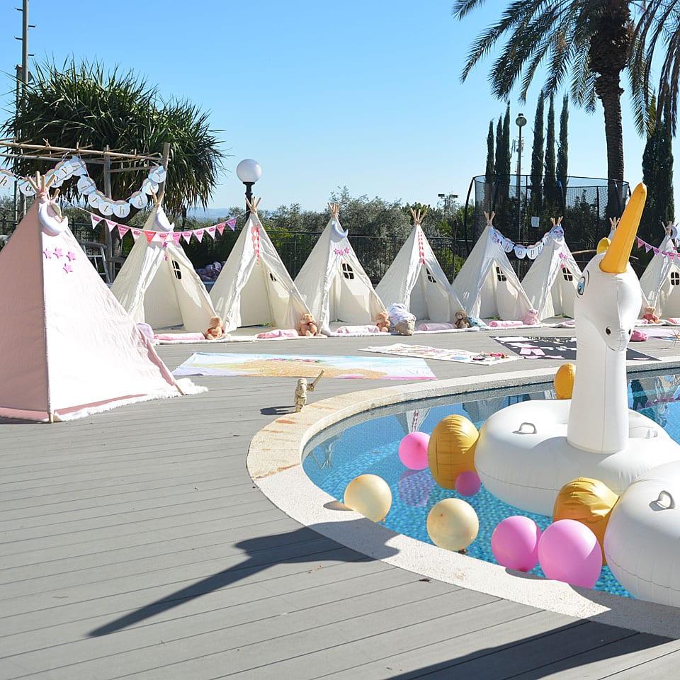 מסיבת פיגמות אוהלים לאלילנד הפקה מרשימה