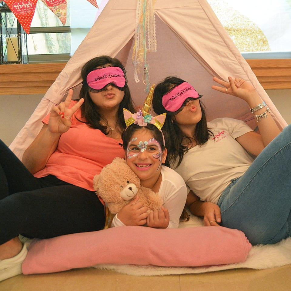 יום הולדת מסיבת פיגמות אוהלים צוות מנצח לאלילנד