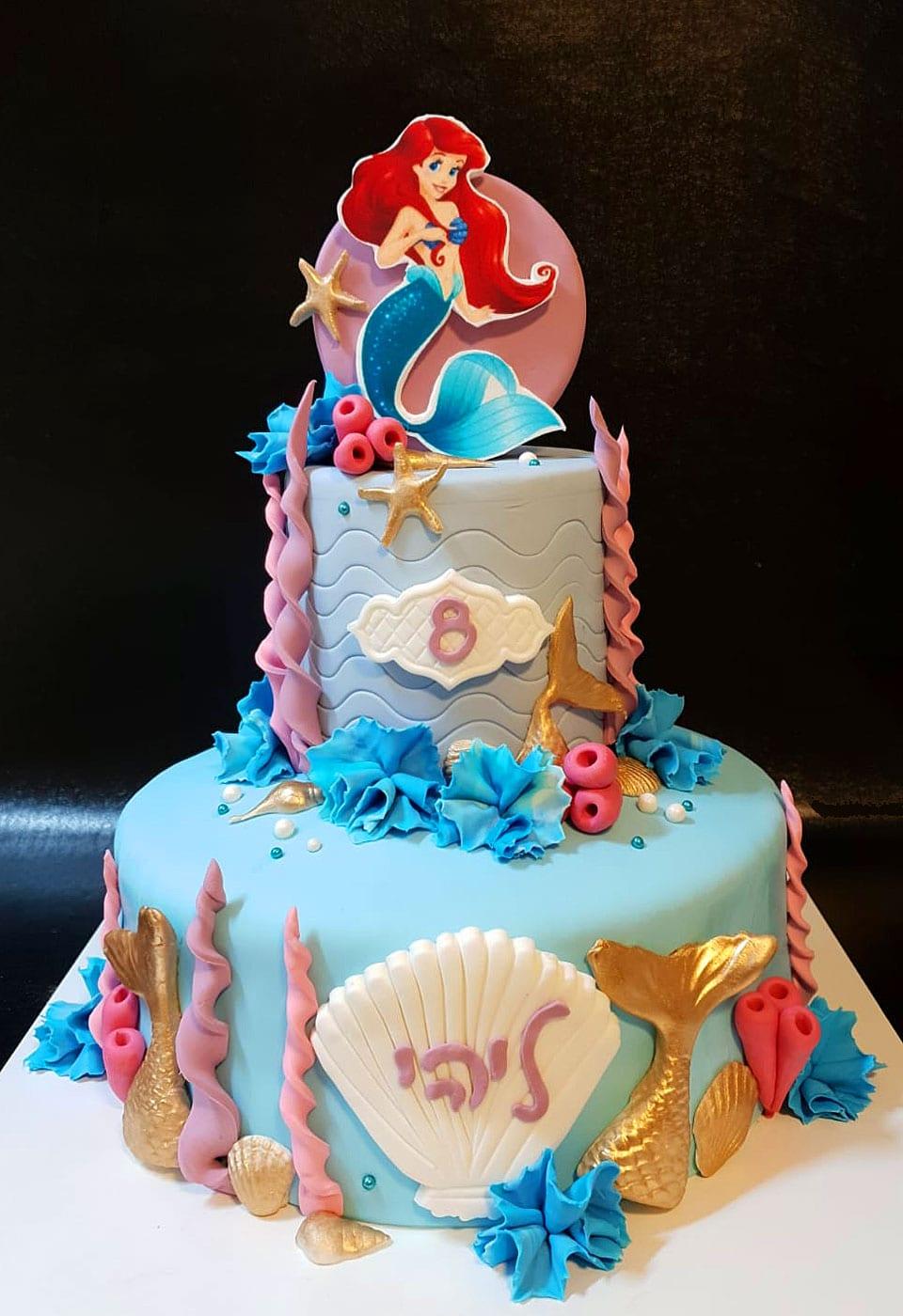 עוגת יום הולדת בת הים ליהי לאלילנד