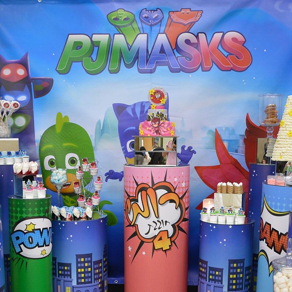 הפעלת יום הולדת כוח פיג׳יי PJ Masks עיצוב שולחן