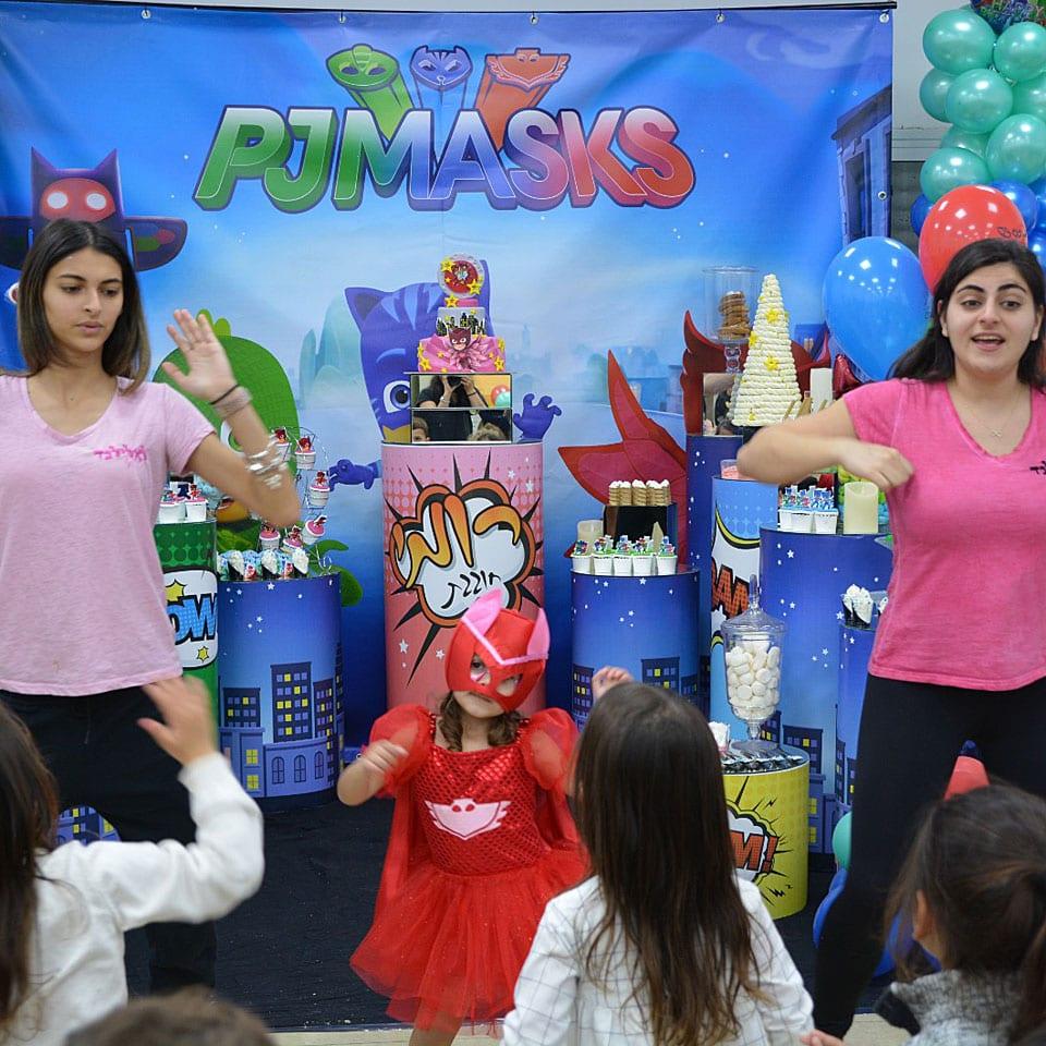 הפעלת יום הולדת כוח פיג׳יי PJ Masks מסיבת ריקודים