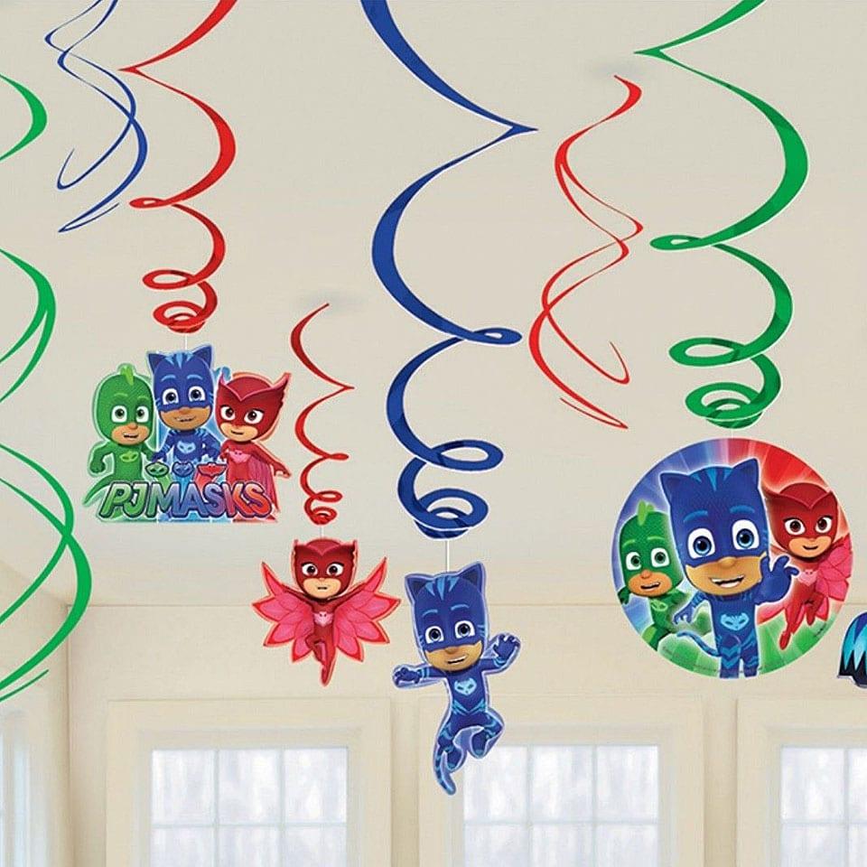 הפעלת יום הולדת כוח פיג׳יי PJ Masks תפאורה לאלילנד