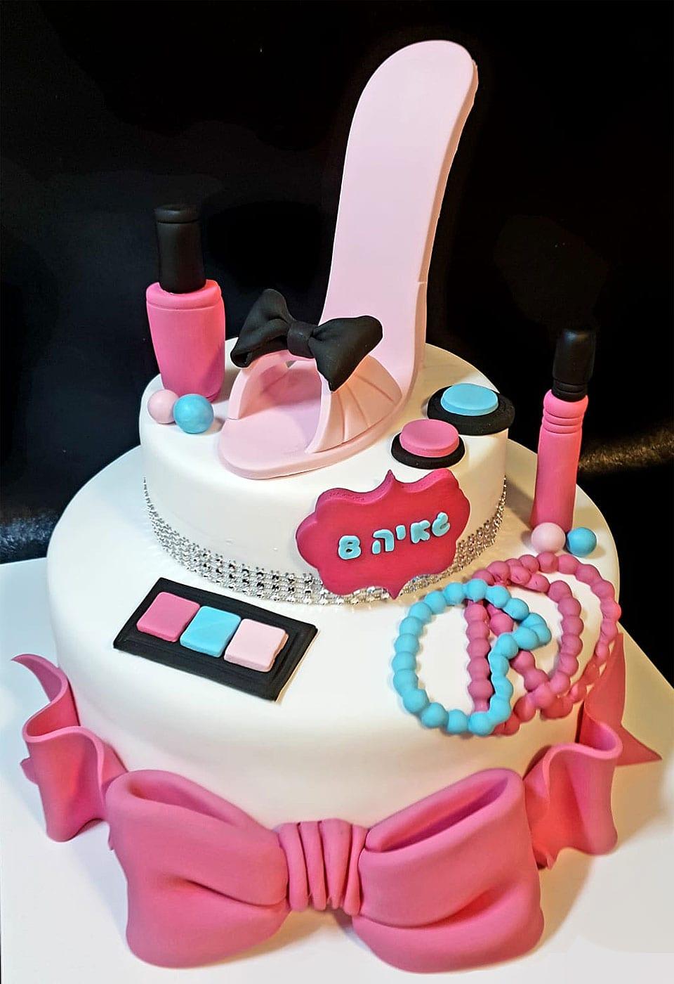 עוגת בצק סוכר ליום הולדת לאלילנד