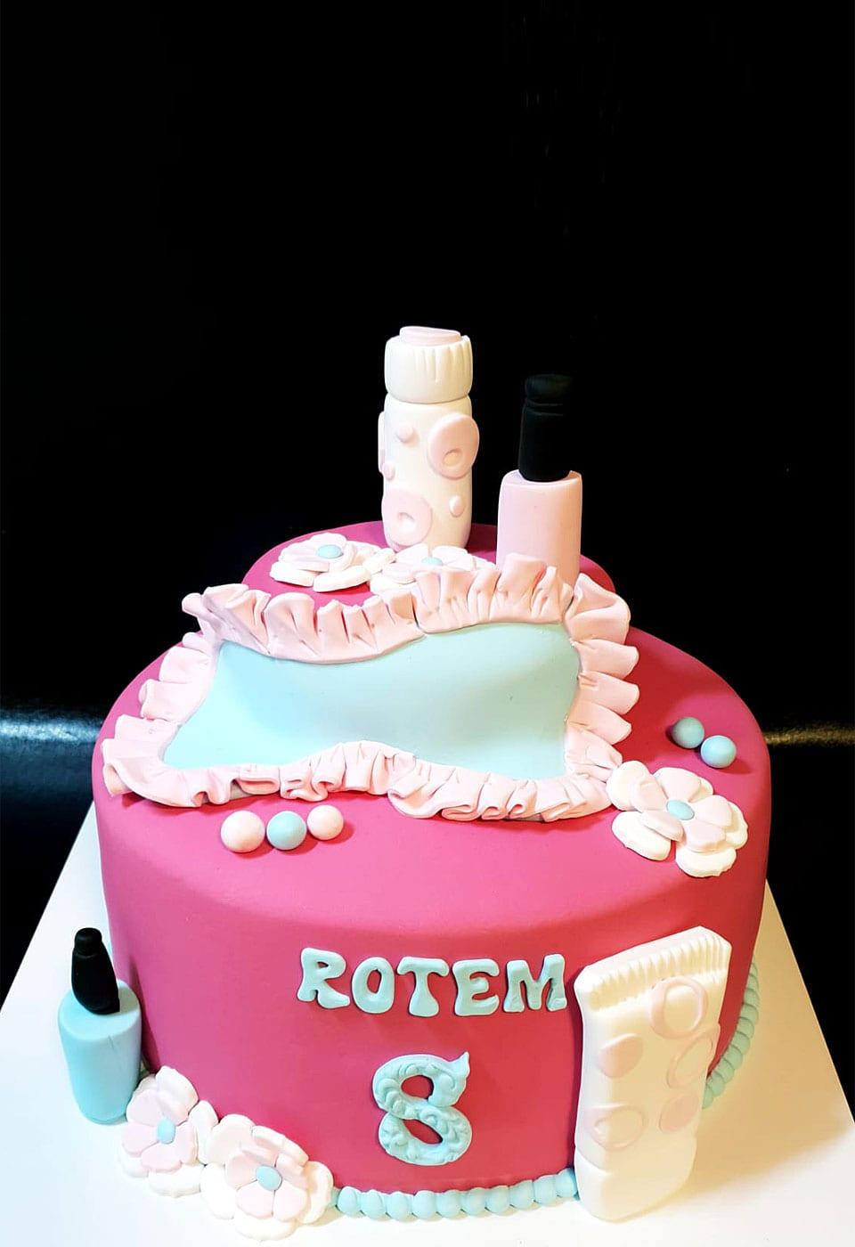 עוגת בצק סוכר ליום הולדת לאלילנד רותם בת 8