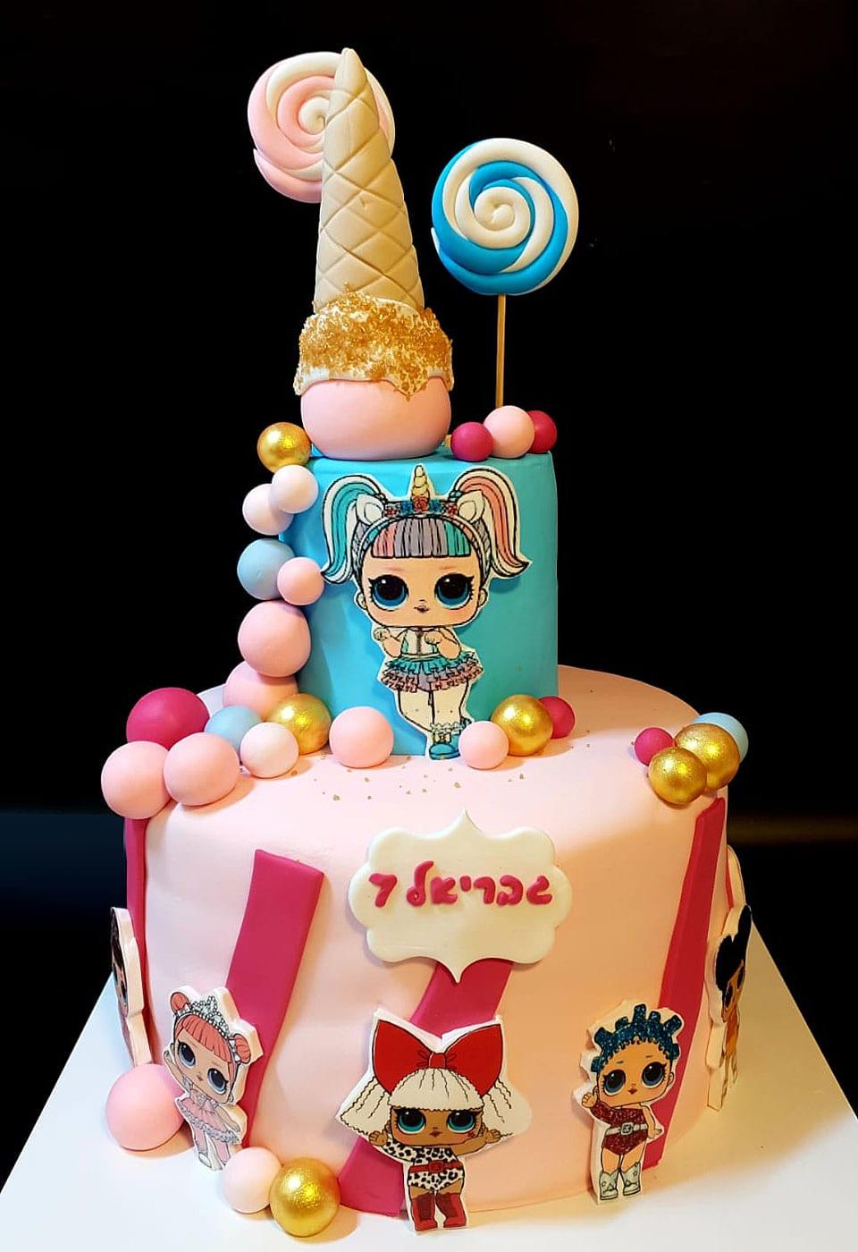 עוגת יום הולדת LOL לאלילנד