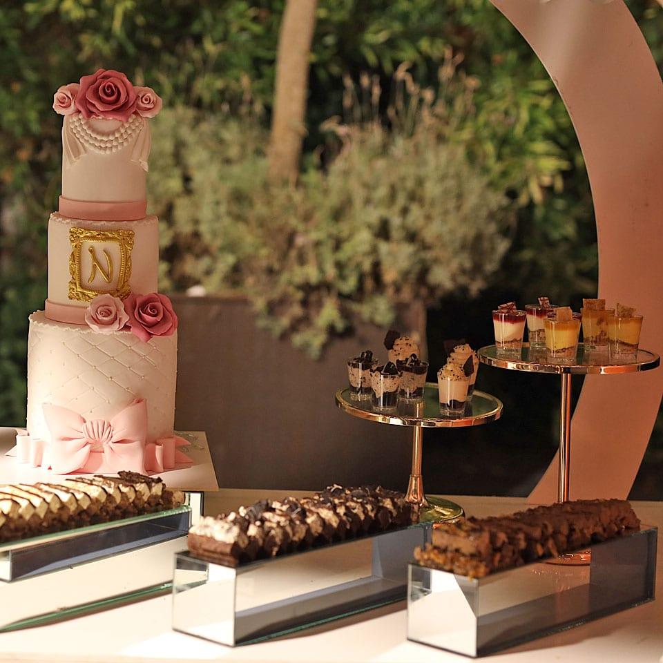 עוגות קרם שולחנות מתוקים הפקת בת מצווה יוקרתית לאלילנד