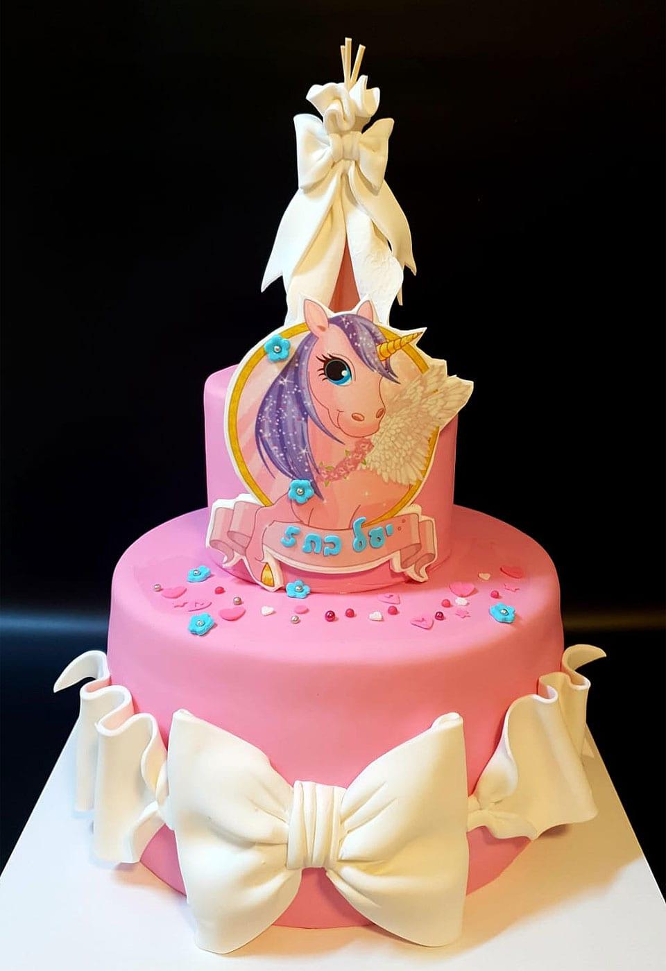 עוגת יום הולדת חד קרן לאלילנד
