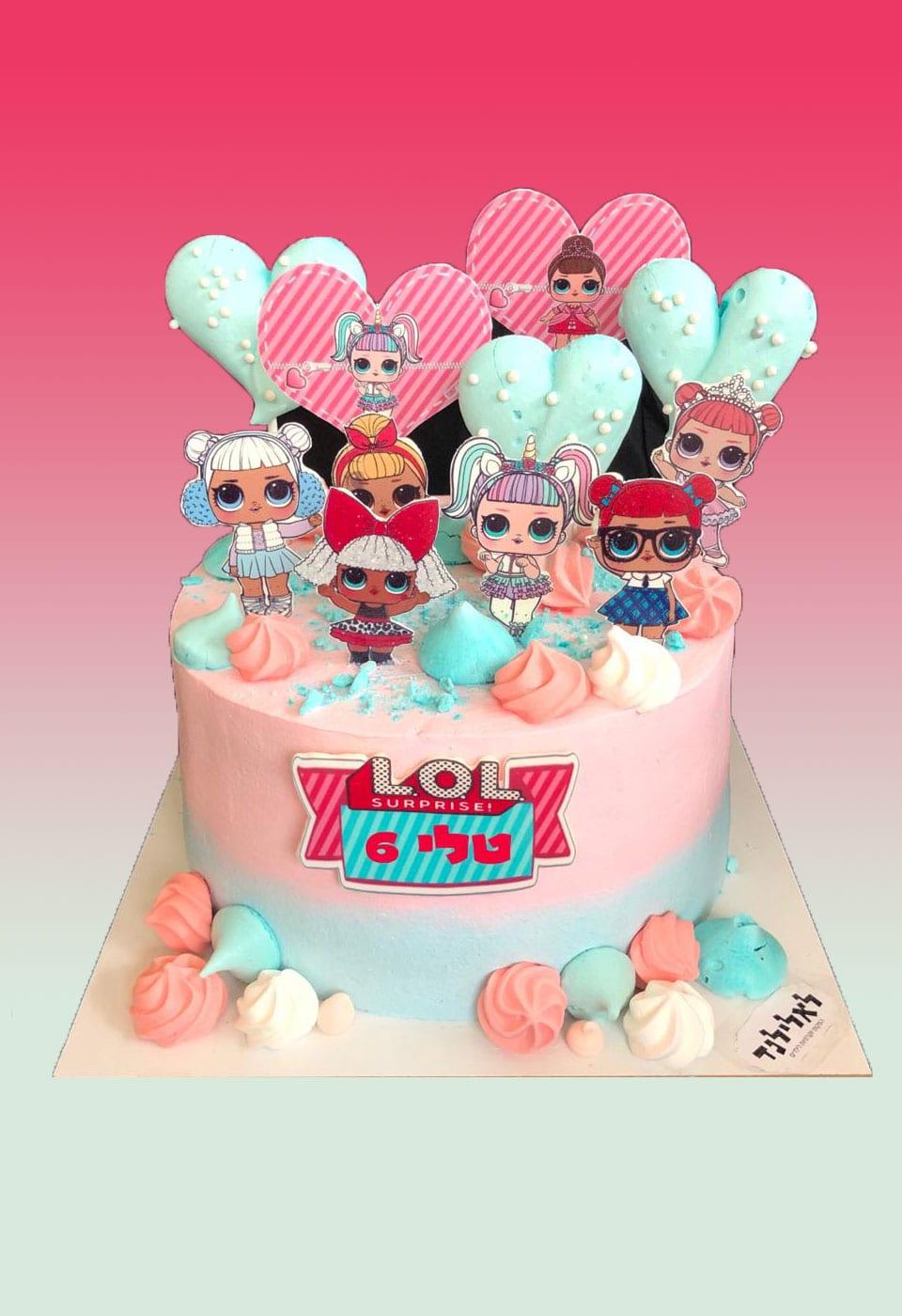 עוגת יום הולדת לול טלי