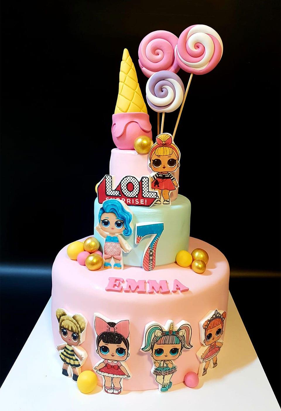 עוגת יום הולדת לול סוכריות