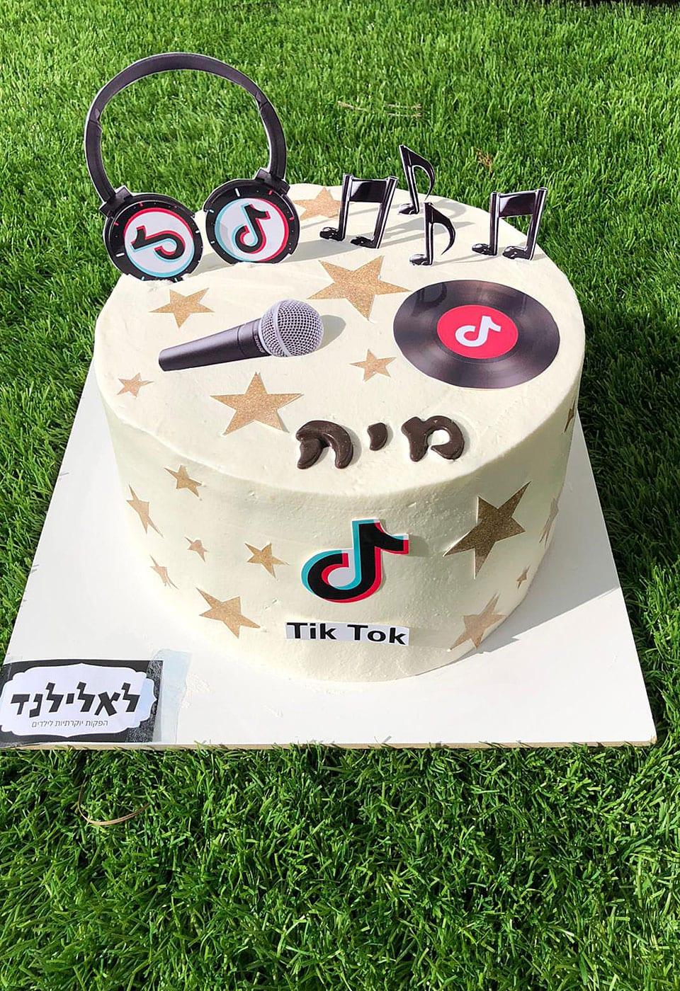 עוגת יום הולדת טיק טוק