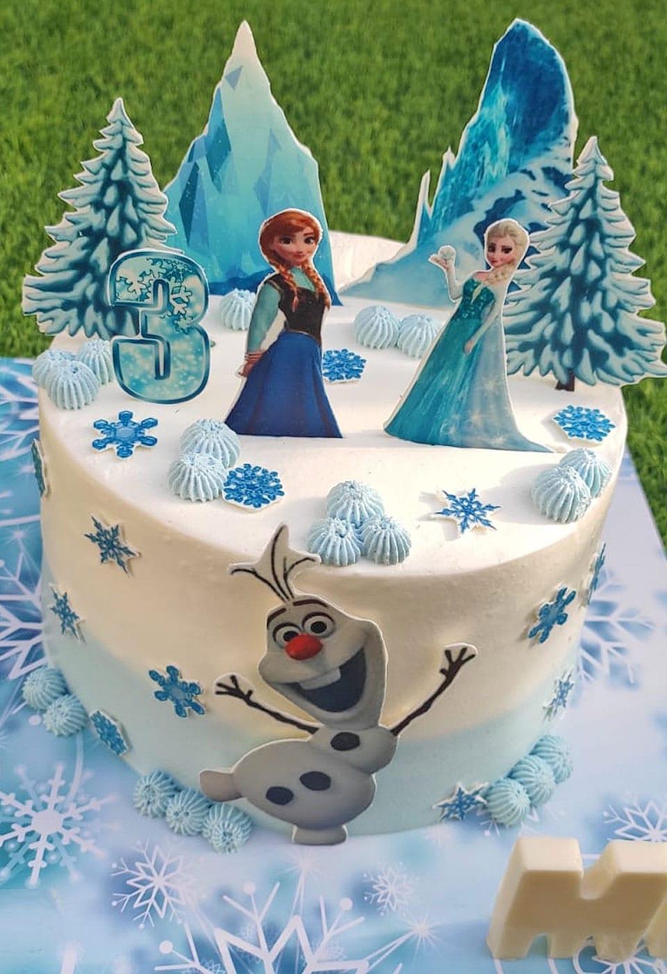 עוגת יום הולדת פרוזן מיה תוצרת לאלילנד