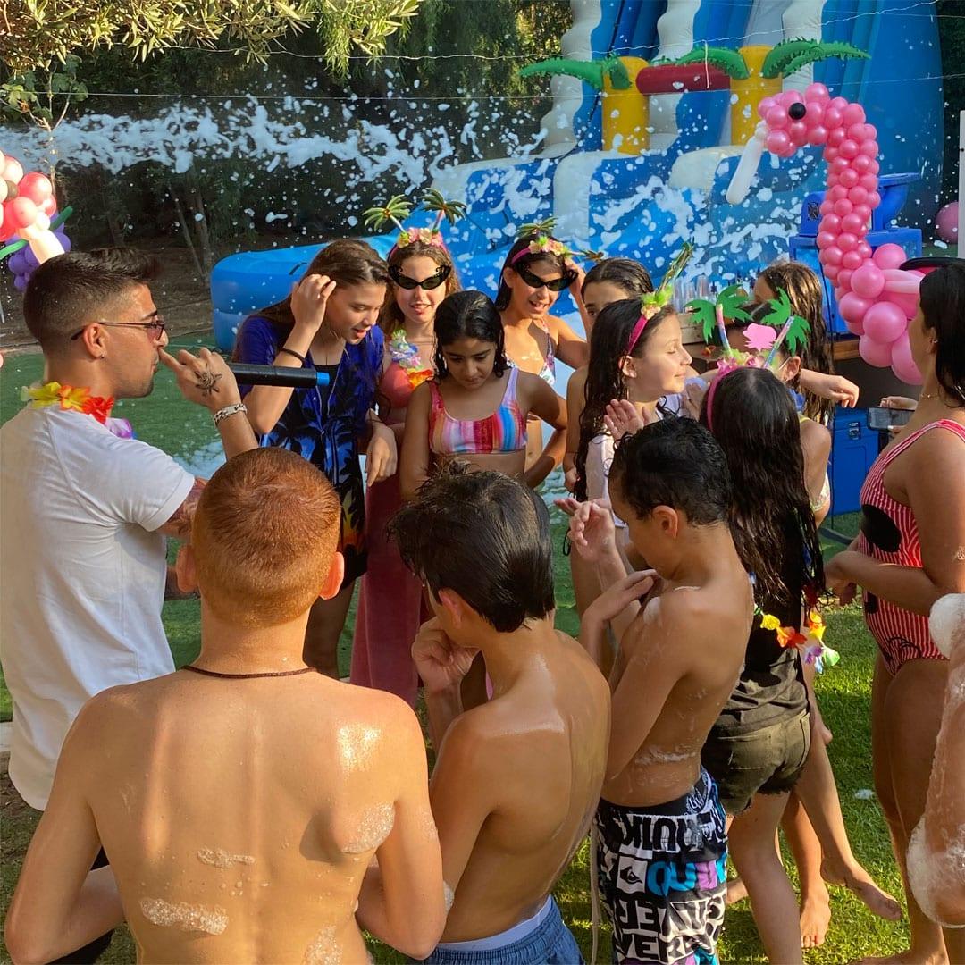 בת מצווה טרופיקנה מסיבת בריכה סלבס לאלילנד
