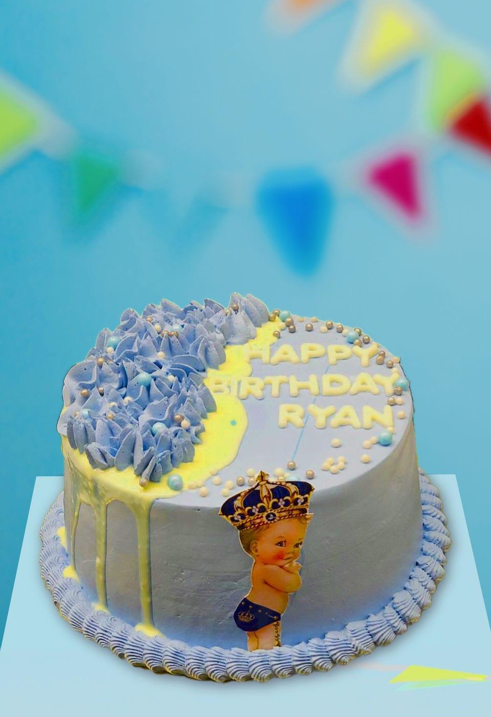 עוגת זילוף יום הולדת לנסיך רייאן