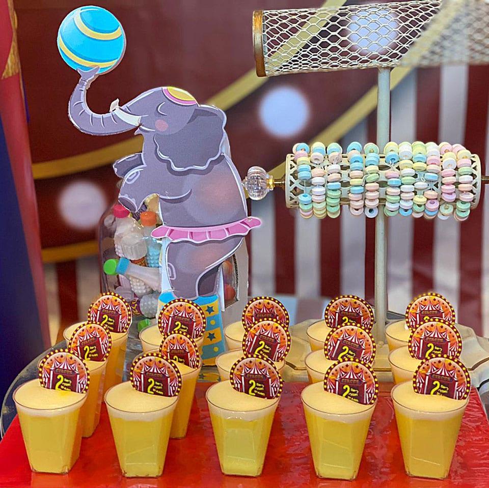עוגיות עיצוב שולחנות קרקס לאלילנד