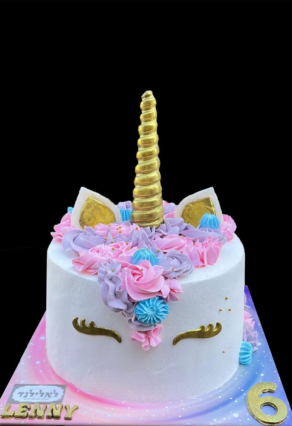 עוגת חד קרן שיער ארוך